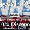 Special Offer For NHS Staff & Military Personnel & Veterans
