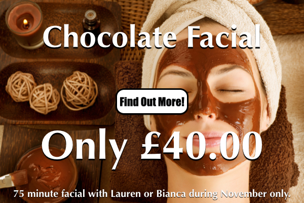chocolate-facial-special-offer-at-laroma-therapies-worthing
