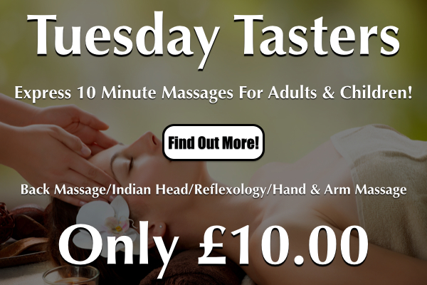 Tuesday Tasters Express Massages At Laroma Therapies Worthing